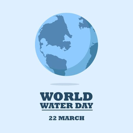 World water day concept. Blue planet protection. raster