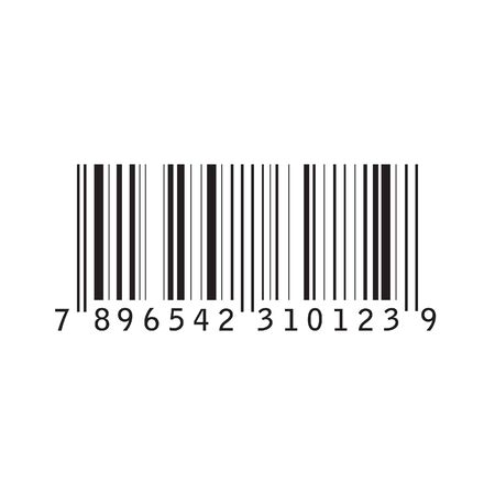 Realistic Barcode icon isolated on white background