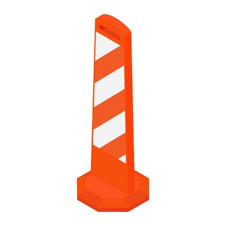 Road street barrier isometric view