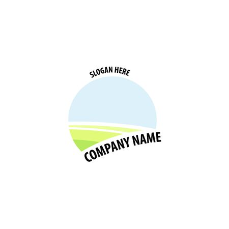 Farming label, badge and design element. company slogan Illusztráció