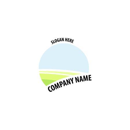 Farming label, badge and design element. company slogan