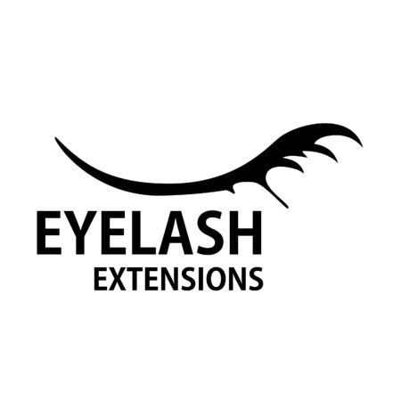 Modern eyelash extension   design template Illustration