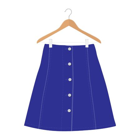 Skirt template, design fashion woman illustration - women skirt