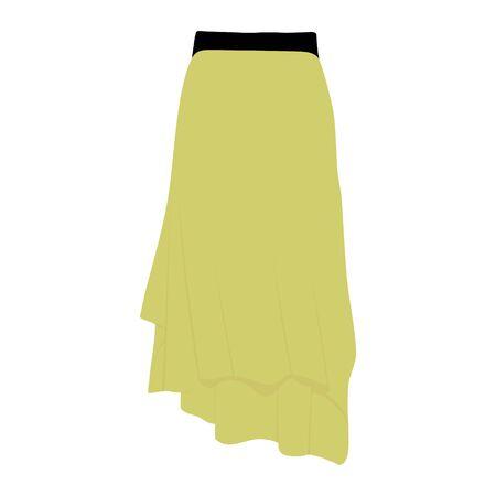 Vector skirt template, design fashion woman illustration. Women skirt