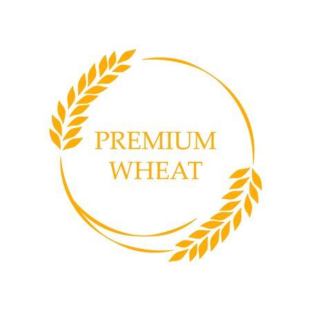Agriculture Premium wheat   Template vector icon Illusztráció