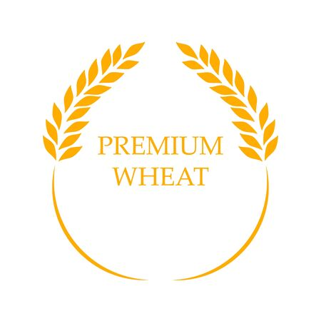 Agriculture Premium wheat   Template vector icon Illustration