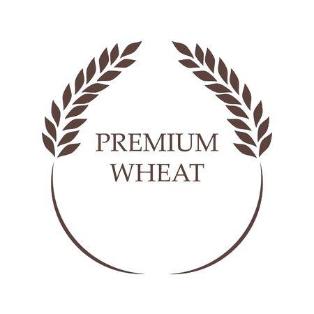 Symbol for   design Wheat. Agriculture, corn, barley, stalks, organic plants, bread, food natural harvest