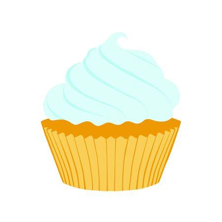 Tasty cupcake  isolated on white background Imagens - 131858274