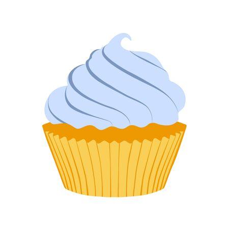 Tasty cupcake  isolated on white background