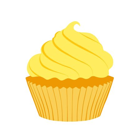 Tasty cupcake isolated on white background 写真素材 - 131858282