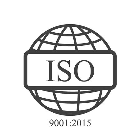ISO icon outline. Isolated raster sign symbol.