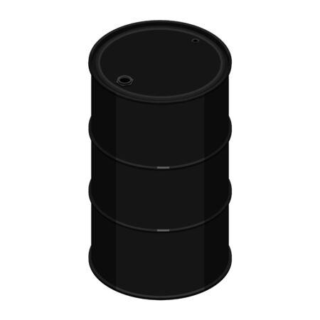 Blank realistic black oil barrel Stok Fotoğraf