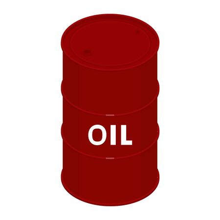 Blank realistic oil barrel with text oil
