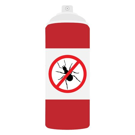 Ant repellent spray bottle icon. Ant, insect stop sign