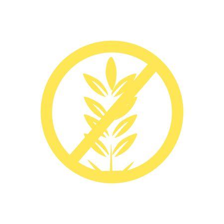 Gluten free raster icon isolated on white background. Reklamní fotografie