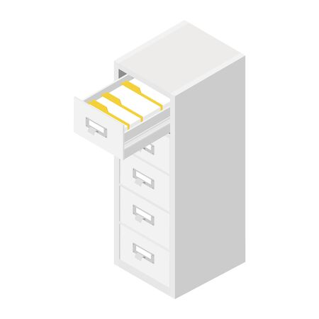 Office files in a filing cabinet drawer, business administration and data storage concept