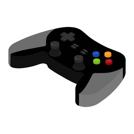 Modern wireless game controller for PC and Console isometric view