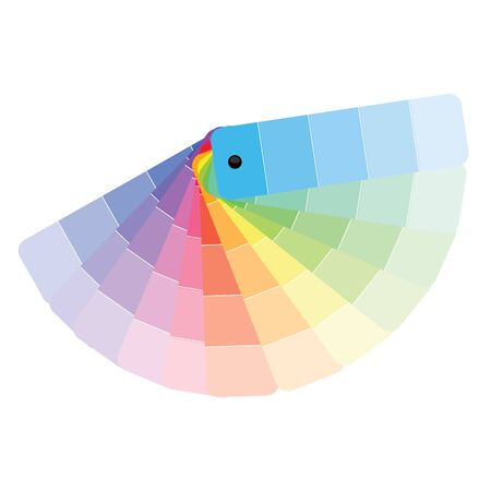 Color palette, guide of paint samples, colored catalog. Color palette samples on white background Ilustrace