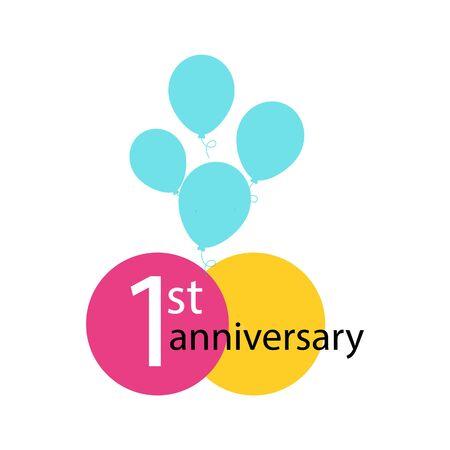 Anniversary emblem, anniversary template design for web, game ,Creative poster, booklet, leaflet, flyer, magazine, invitation card 免版税图像