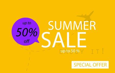 Sale banner template design. Summer sale special offer.