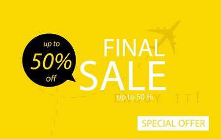 Sale banner template design. Final sale special offer.