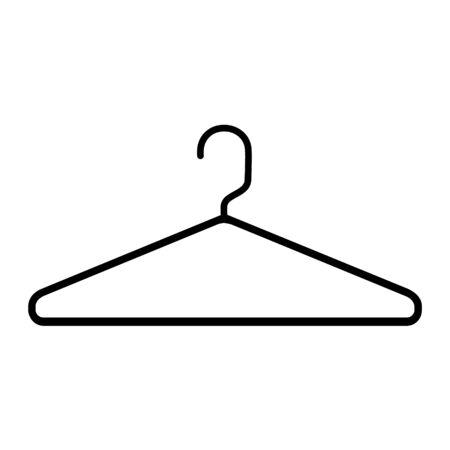 Hanger raster icon isolated on white background