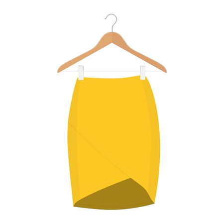 Skirt template collection. Elegant fashion woman skirt design - women skirt
