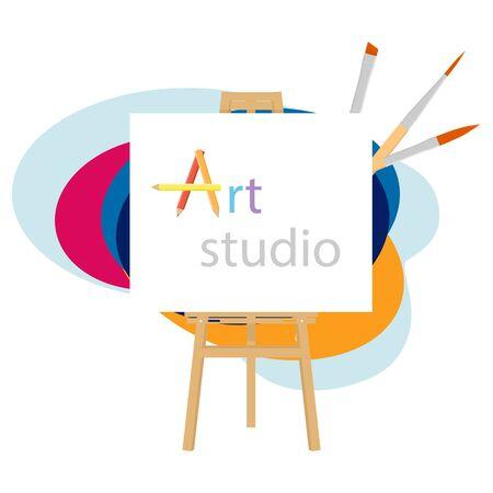 Art studio. Creative workshop. Design salon for artists.