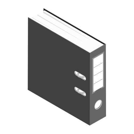 Office worker folder archive: database, administration and file management concept