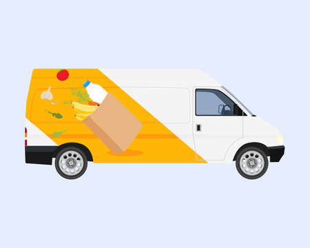 Online delivery service concept, online order tracking, delivery home and office. Vector