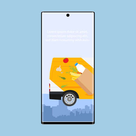 Online delivery service concept, online order tracking, delivery home and office. Food delivery on mobile. E-commerce concept. Webpage, app design.