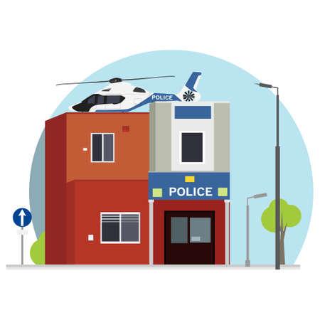 City police station department building Foto de archivo - 154241425