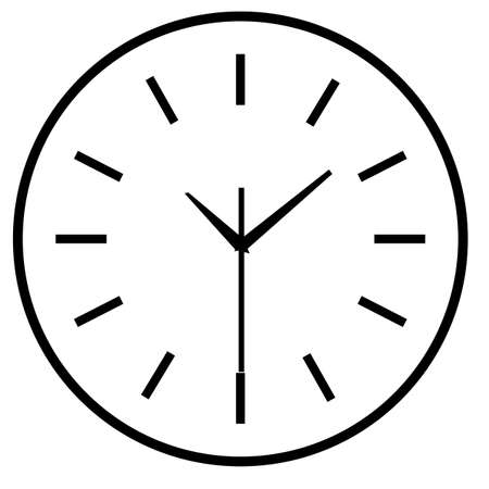 Time clock isolated icon for web design. Simple vector Vectores