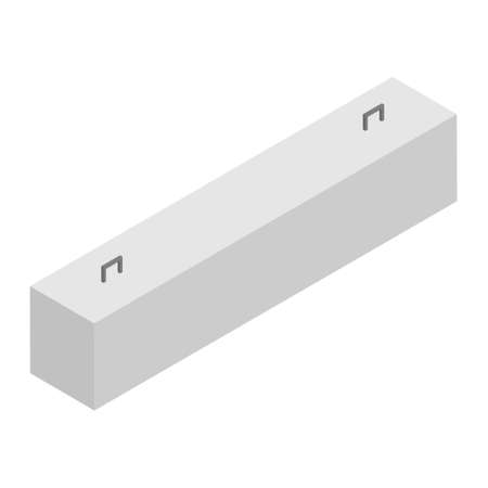 Precast concrete security barrier block isometric view isolated on white background. Precast foundation block Foto de archivo - 154537925