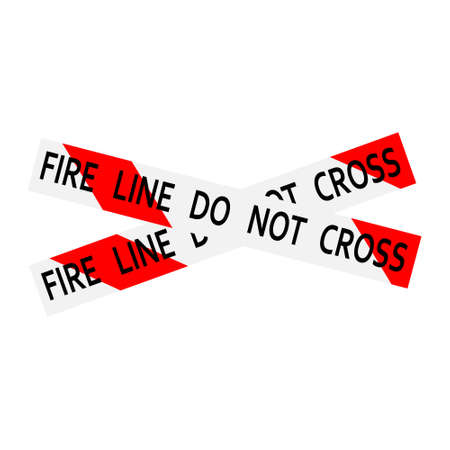 Fire line do not cross red an white caution tape.