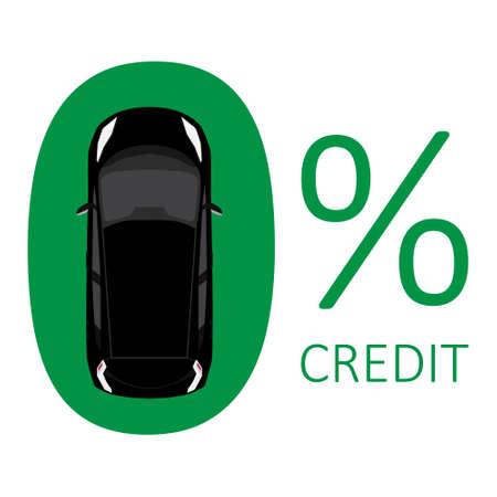 Car credit concept zero rate raster