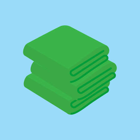 Towel vector illustrations. Folded towels in flat cartoon style.