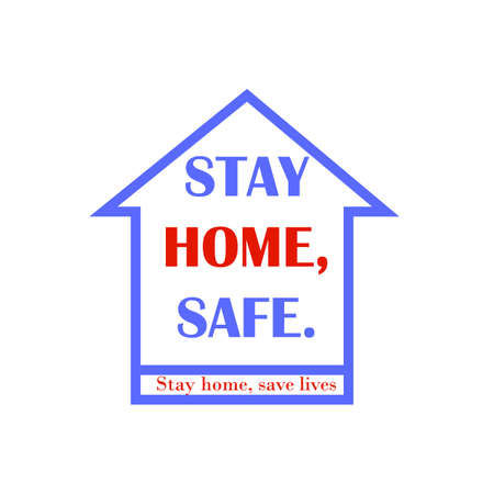 Stay at home symbol. Stay home campaign for pandemic coronavirus outbreak prevention. The expression