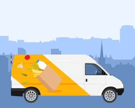 Online delivery service concept, online order tracking, delivery home and office. raster