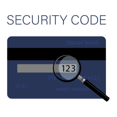 CSV security code is located on a typical credit card. Back side of the credit card with CVV security code Stock Photo