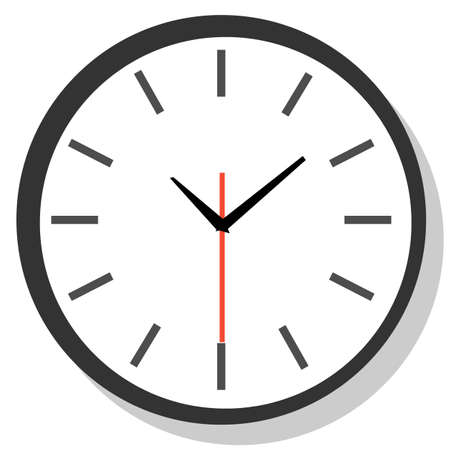 Line icon wall clock face raster