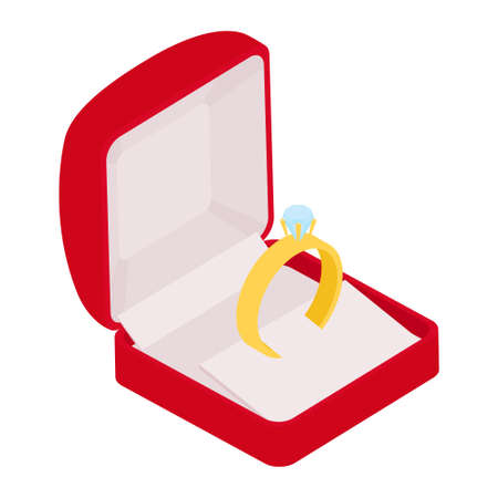 Wedding ring raster engagement symbol gold jewellery for proposal marriage wed sign will you marry me bridal illustration set isolated on white background