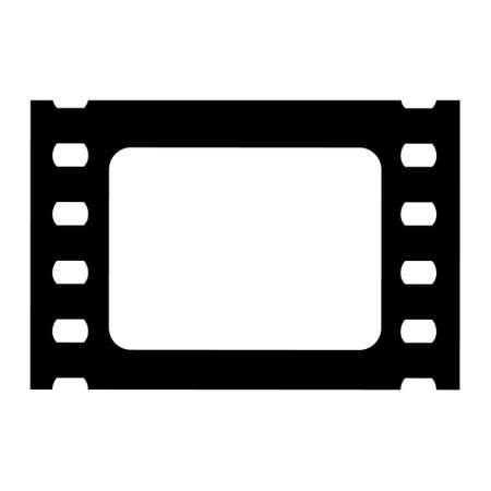Film cinema strip icon. Isolated on white background.