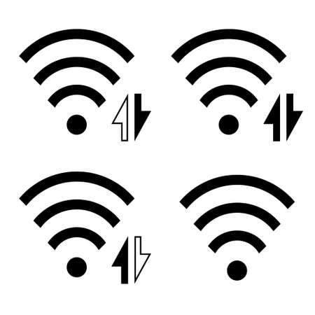 Wireless icon set, collection. WiFi symbol, sign. WiFi. Vector Illustration