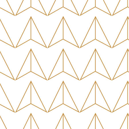 Abstract geometric pattern with lines, triangles raster background. White and gold texture Foto de archivo