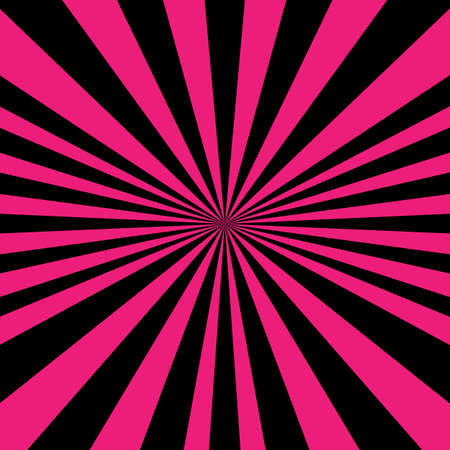Vector illustration pink psychedelic spiral with radial rays, comic effect, vortex background. Hypnotic spiral