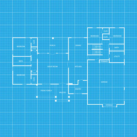 Architects, engineer concept. Apartment architectural project sketch blueprint plan