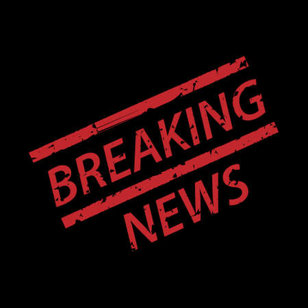 Breaking news grunge rubber stamp
