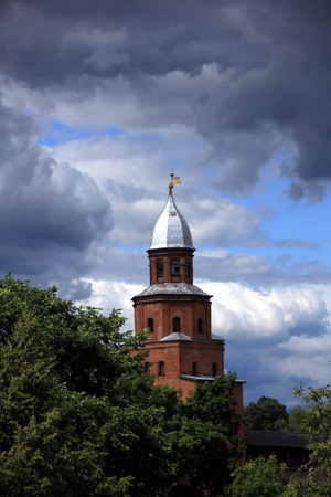 veliky: Fortress tower of the Kremlin in Veliky Novgorod