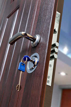 Lock for armored entrance door